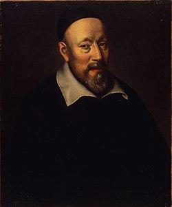 Jean Diodati (1576-1649), théologien genevois, professeur à l'Académie, recteur de 1608 à 1610, a traduit la Bible en français et en italien.jpg