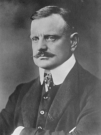 The Finnish composer Jean Sibelius (1865-1957), a significant figure in the history of classical music Jean Sibelius, 1913.jpg
