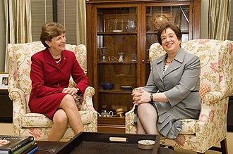 Jeanne Shaheen - Senator Shaheen with Supreme Court Justice Elena Kagan
