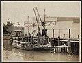 Jennie F Decker at Chlopeck Fish Company dock at the foot of Wall Street, 1908 (MOHAI 7055).jpg