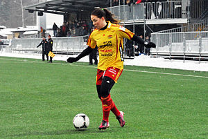 Jennifer Egelryd - Playing for Tyresö in February 2013