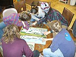 Jigsaw puzzling Our Community Place Harrisonburg VA March 2009.jpg