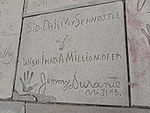 Jimmy Durante's signature at Grauman's Chinese Theatre