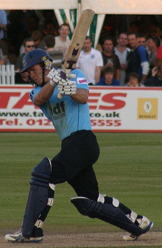 Cricket in Sussex - Joe Gatting batting at the County Ground in 2009