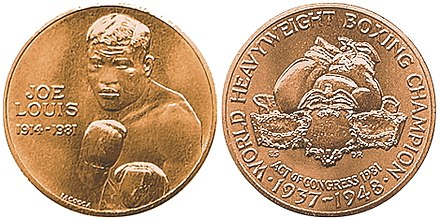 Congressional Gold Medal in 1982 Joe Louis Congressional Gold Medal reverse.jpg