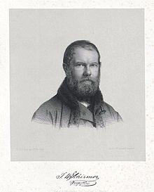 Johann Wilhelm Schirmer (vor 1864) (Quelle: Wikimedia)