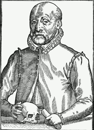 Johann Weyer - Engraving of Johann Weyer, age 60, from De Lamiis Liber