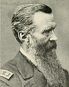 Bearded man in Civil War Union Army uniform