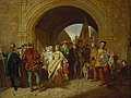 John Faed (1819-1902) - Queen Margaret's Defiance of the Scottish Parliament - NG 2527 - National Galleries of Scotland.jpg