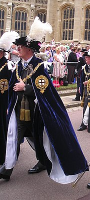 John Major in the robes of a Knight Companion of the Order of the Garter