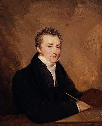 John Martin (painter) - Portrait of John Martin by Henry Warren (1839)