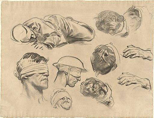 """John Singer Sargent, Studies for """"Gassed"""""""