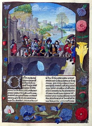 Master of the Prayer Books of around 1500 - Illustration showing the assassination of John the Fearless from Monstrelet's Chronique
