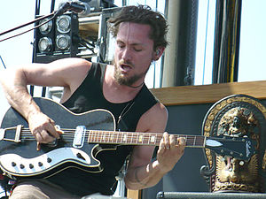 John Butler (musician) - Butler on electric guitar, 2009