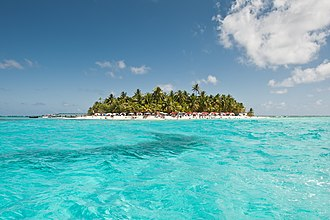 Caribbean Sea - A popular and tropical Caribbean portrait: the island of San Andrés.