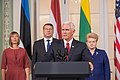 Joint Press Conference by the Baltic presidents and the Vice President of United States (36242929826).jpg