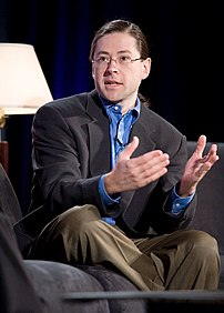 Photograph of Jonathan Schwartz speaking at th...