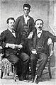 José Martí junto a Fermín Valdés Domínguez y Panchito Gómez Toro, Key West, Estados Unidos 1894.jpg