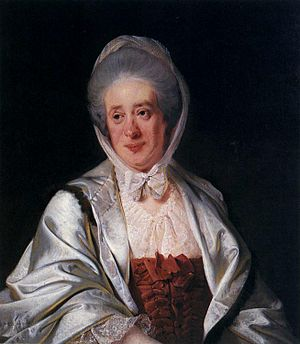 Sir Samuel Crompton, 1st Baronet - Elizabeth Crompton was his mother – painting from Derby Art Gallery