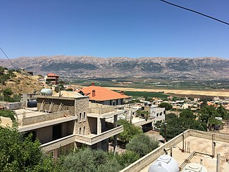 Joub Jannine - A view of the Beqaa Valley from residential Joub Jannine (taken July 2016)