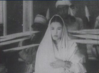 Joymoti (1935 film) - A screenshot of the film (actress Aideu Handique as Joymoti)