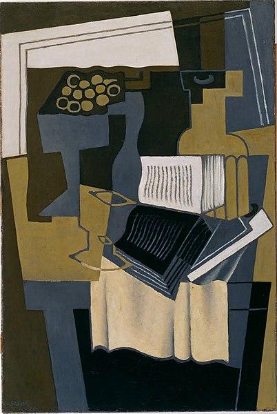 File:Juan Gris, 1910-1927 - Carafe et livre - Google Art Project.jpg