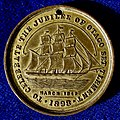 Jubilee of Otago Medal 1898, the John Wickliffe at Port Chalmers 1848.jpg