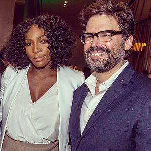 Judd Ehrlich - Judd Ehrlich with Serena Williams at the 2016 Tribeca Film Festival premiere of Keepers of the Game