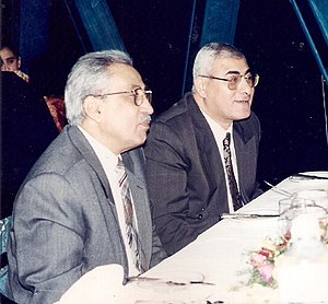Adly Mansour - Adly Mansour with his mentor and Vice-President of the Supreme Constitutional Court at the time Judge Sami Farag