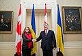 Julie Payette with Petro Poroshenko in Ukraine - 2018 - (1516272753).jpg