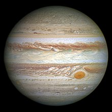 Jupiter and its shrunken Great Red Spot.jpg
