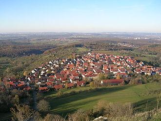Kohlberg, Baden-Württemberg - View from the Jusi towards Kohlberg