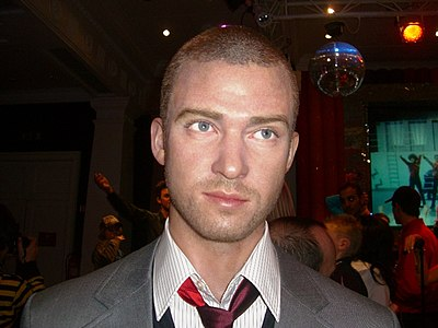 Timberlake's wax figure at Madame Tussauds, London Justin Timberlake wax 1.jpg