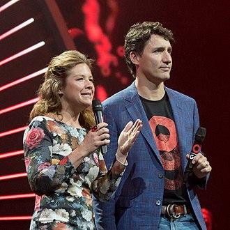 Sophie Grégoire Trudeau - Sophie Trudeau and her husband in Hamburg, 2017