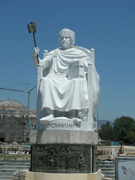 File:Justinian I . 2 . Monuments in Skopje.JPG
