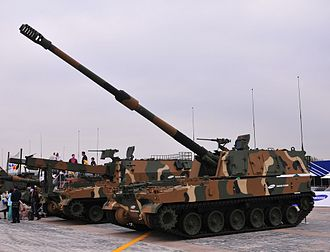 Republic of Korea Army - K-9 Thunder 155mm self-propelled howitzer