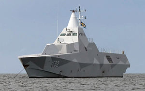 Swedish Armed Forces - The Swedish Visby class corvette.
