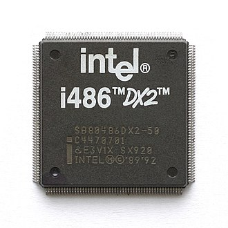 Intel 80486DX2 - Image: KL Intel i 486DX2 PQFP