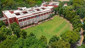 Kirori Mal College - Facade of the Main Block of the college