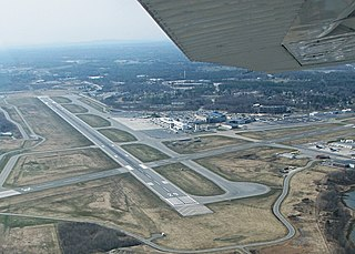 Airport in Portland, Maine, USA