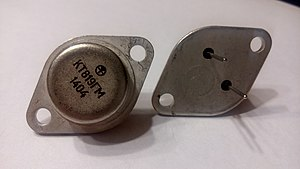 TO-3 - КТ819ГМ NPN power transistor (Soviet 2N3055 copy) in TO-3 package