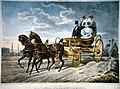 Kaiser Franz I. und Kaiserin Karoline Auguste im Kutschwagen Litho.jpg