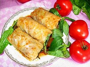 Cabbage roll - Azerbaijani kalam dolmasi