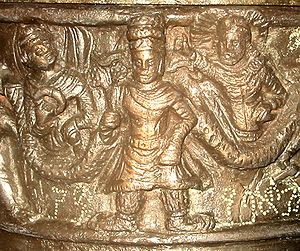 Kanishka casket - Image: Kanishka Detail