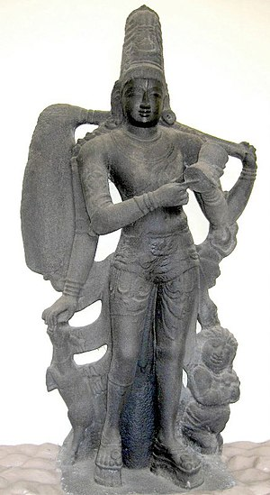 Kankalamurti - Kankalamurti, Darasuram (12th century), currently in Thanjavur Maratha Palace museum, Thanjavur