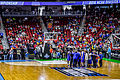 Kansas Jayhawks Open Practice at the 2016 March Madness Opening Rounds (25817745926).jpg