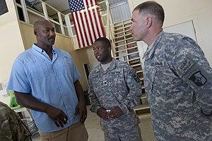 Karl Malone - Malone visits U.S. base in Afghanistan.