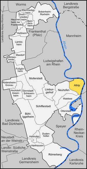 Altrip - Image: Karte Altrip