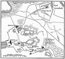 Antik Efes haritası