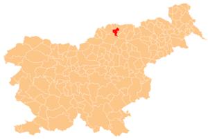 Vuzenica - Image: Karte Vuzenica si